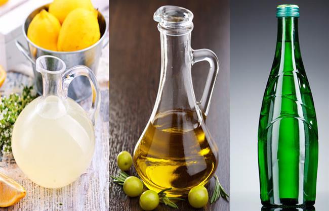 """Limon Suyu, Zeytinyağı ve Maden Suyu Karışımı  Bir kabın içerisine;  •1 yemek kaşığı limon suyu   •1 yemek kaşığı zeytinyağı  •1 su bardağı maden suyu   ekleyin ve karıştırın. Bir bez yardımıyla kurumuş cildinizin üzerine uygulayın. 20 dakika sonra ılık su yardımı ile durulayın.   <a href=  http://mahmure.hurriyet.com.tr/guzellik/kisisel-bakim/4-adimda-cildinizi-kisa-hazirlayin_1112541/  style=""""color:red; font:bold 11pt arial; text-decoration:none;""""  target=""""_blank"""">  4 Adımda Cildinizi Kışa Hazırlayın"""
