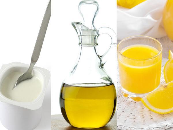 """Karbonat, Yoğurt, Zeytinyağı ve Limon Suyu Karışımı  Bir kabın içerisine; •2 çay kaşığı karbonat  •3 yemek kaşığı yoğurt  •2 çay kaşığı zeytinyağı  •5 damla limon suyu  ekleyin ve hepsini birbirine güzel bir şekilde karıştırın. Hazırladığınız karışımı fazla bekletmeden ve göz çevrenize sürmeden yüzünüze maske olarak uygulayın. 10 dakika bekledikten sonra ılık su yardımı ile yüzünüzü temizleyin.   Haftada 1, ayda toplamda en fazla 5 kez uygulamanız yeterli.   <a href=  http://mahmure.hurriyet.com.tr/foto/guzellik/kimyasallara-alternatif-4-dogal-guzellik-yontemi_42855/  style=""""color:red; font:bold 11pt arial; text-decoration:none;""""  target=""""_blank"""">  Kimyasallara Alternatif 4 Doğal Güzellik Yöntemi"""