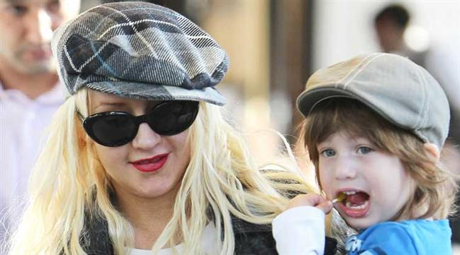 Christina Aguilera ve oğlu Max