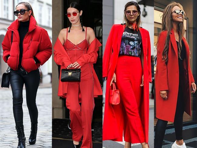 Kışın vazgeçilmezlerinden biri olan kırmızı rengi yine her zamanki gibi yerini korumaya hatta iddalı hale gelerek bu renge düşkün modaseverlerin de ilgi olağı oluyor. Bizde sizler için kırmızı rengin 2018 yılında bize neler katabileceğini araştırdık.  Kaynak Fotoğraflar: Pinterest