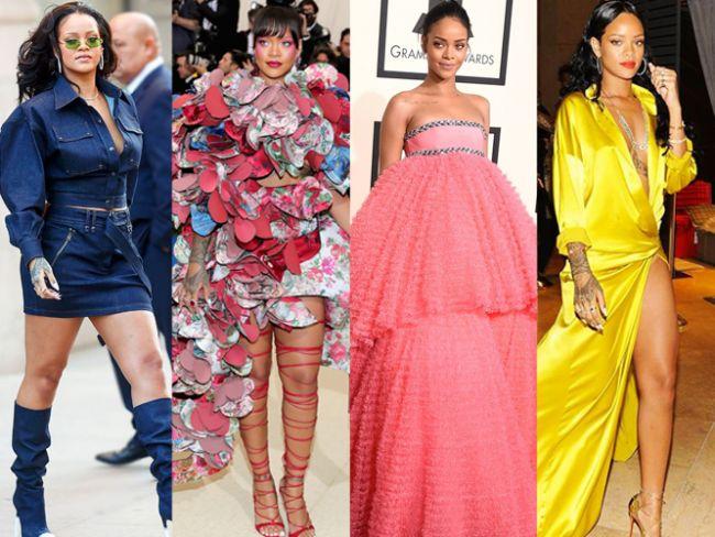 Rihanna şarkılarıyla olduğu kadar kıyafetleri, aksesuarları ve moda dünyasında koleksiyonları ile de konuşulan bir stil ikonu! Attığı her adım olay olan Rihanna tarzıyla herkesi büyülüyor. Giydiği kıyafetler, seçtiği aksesuarlar ve sürekli değiştirdiği saç rengiyle Rihanna, kimsenin giymeye cesaret edemeyeceği kıyafetler giymeyi tercih ediyor.   Kaynak Fotoğraflar: Pinterest, Google Yeniden Kullanım