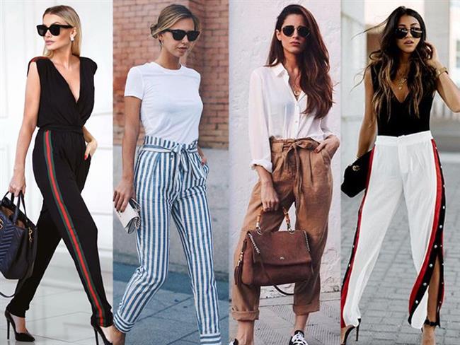 Bahar aylarına yaklaştığımız günlerde moda, kış uykusundan uyanmaya başlıyor. Modanın büyük değişimlere imza atacağı bahar aylarında en büyük değişimi pantolonlarda görmeye başlayacağız. Çeşitli doku ve tasarımda olan 2018 pantolon trendlerini sizler için araştırdık.  Kaynak Fotoğraflar: Pinterest