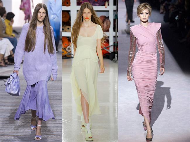 """2018 Yaz defilelerinde podyumlar """"dondurma pastel"""" etkisi altındaydı. Neredeyse tüm şovlarda bu renklere rastlamak mümkündü.    Birçok ünlü modacı yaz kreasyonlarına kendi stilleriyle bu güzel renkleri ekledi. Ceketlerden romantik elbiselere """"dondurma pasteller"""" podyumu adeta ele geçirdi. Çok yakın zamanda sokakları da ele geçirecek gibi gözüküyor."""