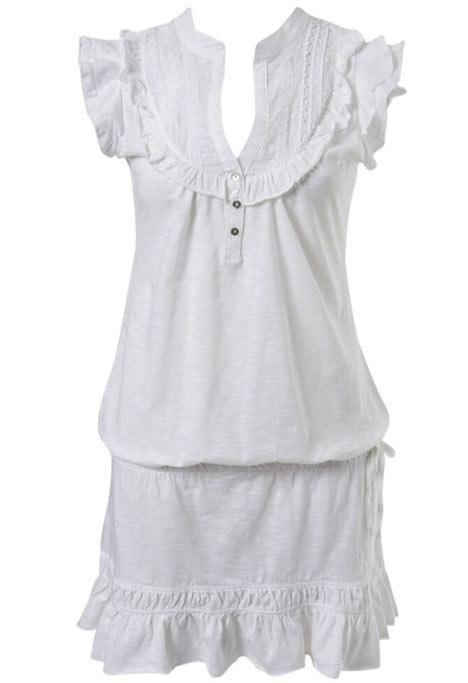 Bu kolları volanlı mini elbise bu yaz şık plaj partilerinde sizi en şıklar listesinin başına oturtacaktır.