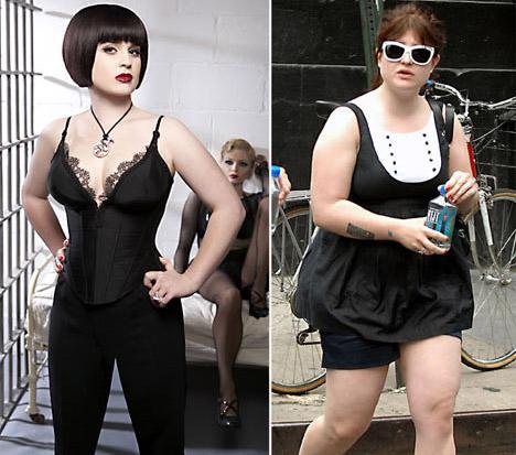 Dünyaca ünlü rockçı Ozzy Osbourne'un kızı olan Kelly'nin fazla kilolarından kurtulduğu görülüyor.