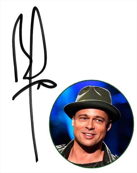 Brad Pitt P harfinin kuyruğunu uzatması onun kararlılığını ve her zaman haklı çıkma isteğini gösteriyor.