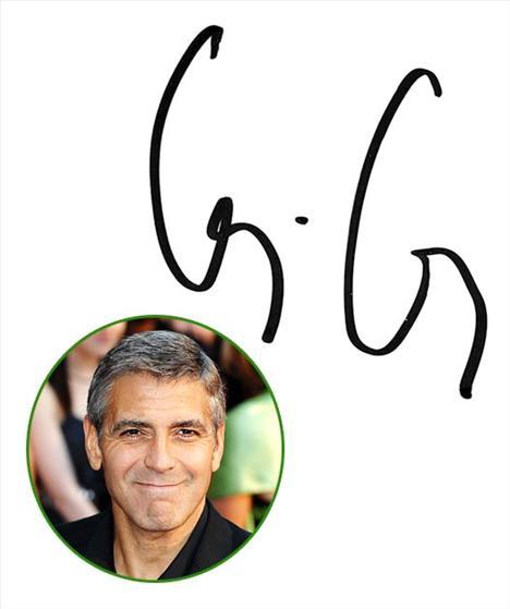 George Clooney G harflerinin büyük olması onun gururlu biri olduğunu ve iki G arasındaki nokta ise özel bir hayata ve gizliliğe olan ihtiyacını gösteriyor.