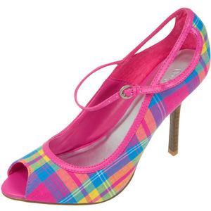 Pembe renklerin ağırlıklı olduğu rengarenk ekose ayakkabı
