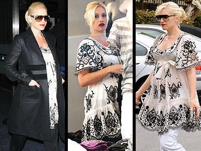 Gwen Stefani hamileyken stilinden asla ödün vermiyordu ve Temperly marka tuniği ile göz kamaştırmaya devam ediyordu...