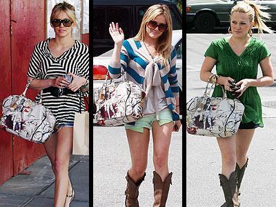 Hilary Duff'ın koluna takıp gezdiği tek şey erkek arkadaşı Mike Comrie değil; Prada marka çantası da onun göz bebeği! Bu çanta New York ve Los Angeles'da uzun bir bekleme listesine sahip...