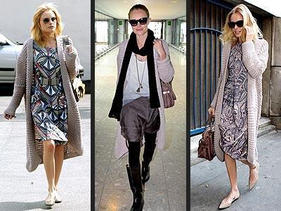 Kate Bosworth'in uzun Chloé marka hırkası onu biraz  soluk gösterse de, o buna aldırmayarak hırkasını her yerde giymeye devam ediyor...