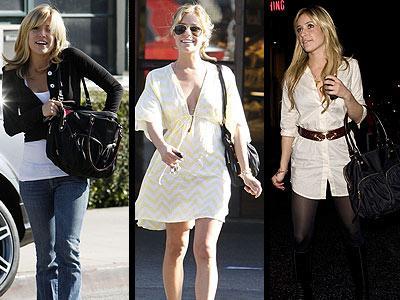 Kristin Cavallari, Bedford Nylon Jane model, M Z Wallace marka çantasını yanından ayırmıyor!