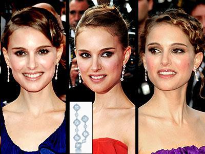Natalie Portman, elmasların bir kadının en iyi arkadaşı olduğunu kanıtlar gibi, her kıyafetiyle 83.500 Dolarlık Tiffany marka küpelerini takıyor...