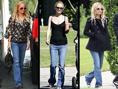 Nicole Richie, imzası hale gelen Paige Laurel Canyon marka jean'i üzerinden çıkarmıyor.