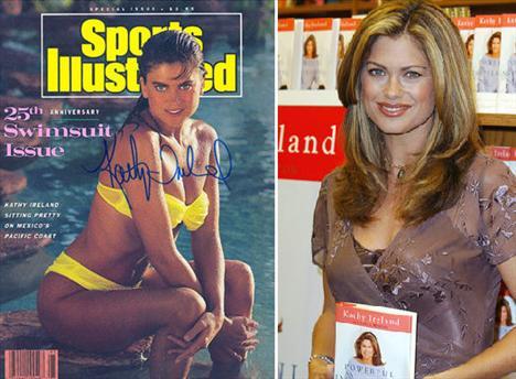 Kathy Ireland – 3'ü kapak olmak üzere 13 kez Sports Illustrated'da yer alan yeşil gözlü model, 'Kathy Ireland Worldwide' markasıyla giysi, mobilya ve bakım ürünleri satıyor.