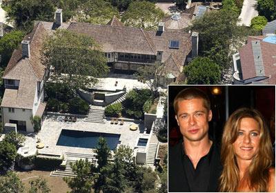 Brad Pitt ve Jennifer Aniston'un bir zamanlar birlikte yaşadığı ev
