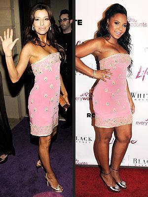 Soldaki: Eva Longoria Parker Sağdaki: Ashanti