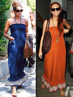 Soldaki: Eva Mendes Sağdaki: Ashlee Simpson