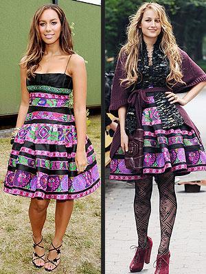 Soldaki: Leelee Sobieski Sağdaki: Leona Lewis
