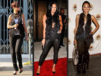 Soldan sağa: Rihanna, Cassie, Amerie