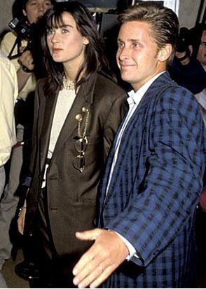 Demi Moore ve Emilio Estevez'in 1980'li yıllardaki birlikteliği de uzun sürmedi.