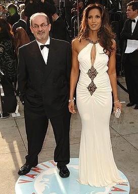 Yazar Salman Rushdie ve boşandığı eşi Padma Lakshmi