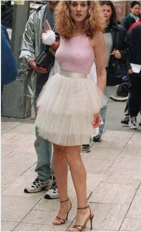 Sarah Jessica Parker'ın Sex and The Vity'nin açılış sekansında giysiği bu ilginç kostüm de hiç unutulmadı.