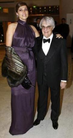 Formula 1'in patronu Bernie Ecclstone ve eşi Slavica.
