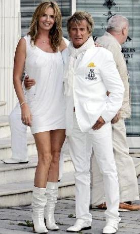 Rod Stewart ve eşi Penny Lancaster