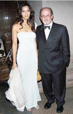 Salman Rushdie ve eski eşi Pardma Lakshmi.