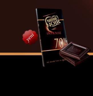 2 adet Nestle Noir Intense %70 Kakaolu çikolata Vücutta mutluluk hormonu olan endorfinin salgılanmasını sağlarken, kalp hastalıkları ve kanserle mücadele ediyor. Ayrıca cildi ve kemikleri besliyor.