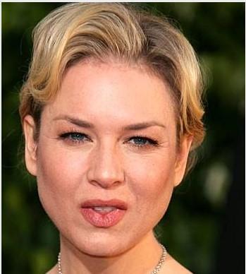 RENEE ZELLWEGER   Bridget Jones serisinin yıldızı Renee Zellweger'da Hollywood'un en çirkinünlüleri arasında göterildi. Nedeni mi? Sürekli olarak kıstığı gözleri ve bıkmadan usanmadan büzdüğü dudakları yüzünden.