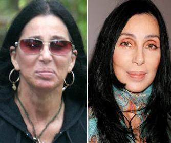 Cher'nin makyajsız ve makyajlı hali
