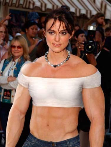 Keira Knightly Gerçek vücut çalışan kadınlar!