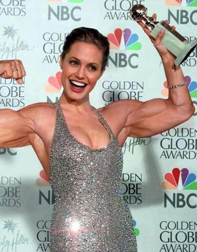 Angelina Jolie Gerçek vücut çalışan kadınlar!