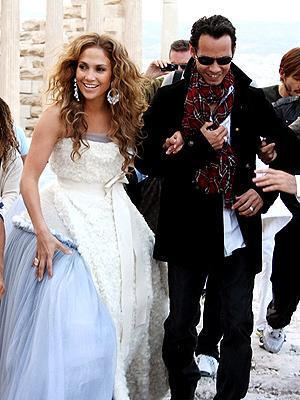 Jennifer Lopez ve Marc Anthony (Atina)