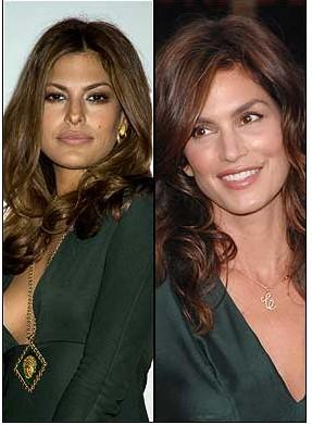 Eva Mendez ve Cindy Crawford