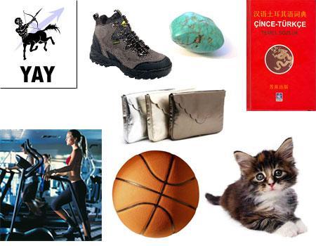 Yay Burcu (23 Kasım - 21 Aralık)  Yay Erkeği: Yay erkeği sürekli hareket halindedir, günlük programına uyabilmesi için spor bir saat alabilirsiniz. Sık seyahat ettiği için pasaportunu ve biletlerini taşıyabileceği bir çanta verebilirsiniz. Yay erkeği çok sportiftir; kayak ayakkabısı, snowboard, basket ya da futbol topu, tenis raketi, spor kıyafeti, kamp yaparken kullanacağı bir çadır ya da mangal hediye edebilirsiniz. Olta takımı, avcı bıçağı ve pusula alabilirsiniz. Açık hava düşkünü olan Yay'a, dere tepe dolaşırken giyeceği bir anorak ya da yelek verebilirsiniz. Bahçesi varsa basket potası alabilirsiniz. Her zaman çocuk ruhludur, renkli bir uçurtmaya ya da sirk gösterisine bayılacaktır. Çocukları varsa uzaktan kumanda oyuncak helikopter yada tekne alın çocukları ile birlikte parklarda, su kenarlarında oynayacaktır.  Yay Kadını: Hareketli ve atletik Yay kadınına spor salonu için üyelik ya da egzersiz video kasetleri hediye edebilirsiniz. Yeni sporlar öğrenmek isteyebilir; binicilik, karate veya herhangi bir spor dalında ders almasını sağlayabilirsiniz. Aslında her konuda yeni şeyler öğrenmeyi sevdiğinden onun ilgisini çekecek birçok konuda örneğin İtalyancadan, Çin yemeğine kadar herhangi bir konuda ders ayarlayabilirsiniz. Giysi olarak konforlu ve rahat spor kıyafetleri tercih eder. Seyahat etmeyi seven Yay kadınına kullanışlı, katlanan bir bavul ya da pasaportu için kaliteli deri bir cüzdan alabilirsiniz. Oldukça moderndir; dijital video kamera iyi bir hediye olacaktır. Yönünü bulmasına yardımcı olacak spor bir saat, bir çift bot ya da spor ayakkabıları onu çok mutlu edecektir. Fazlasıyla zeki olan Yay kadınına eğer bir kitap alacaksanız daha sonra üzerinde tartışabileceğiniz ilginç ve derin bir konu seçmelisiniz. Burcun uğurlu taşı firuzedir. Firuzeden yapılmış ilginç bir takı alabilirsiniz. Hayvanları çok seven Yay'a kedi ya da köpek yavrusu hediye edebilirsiniz.